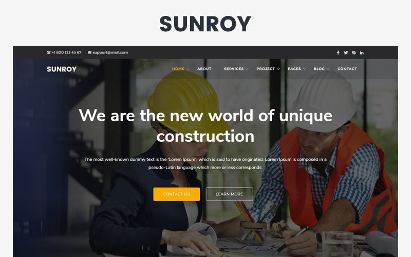 Sunroy - Architecture, Construction Website Template