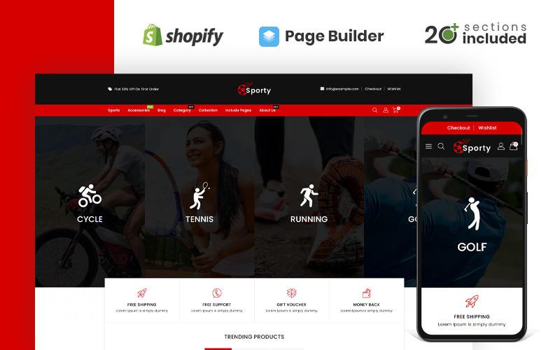 运动型运动及配件商店Shopify主题
