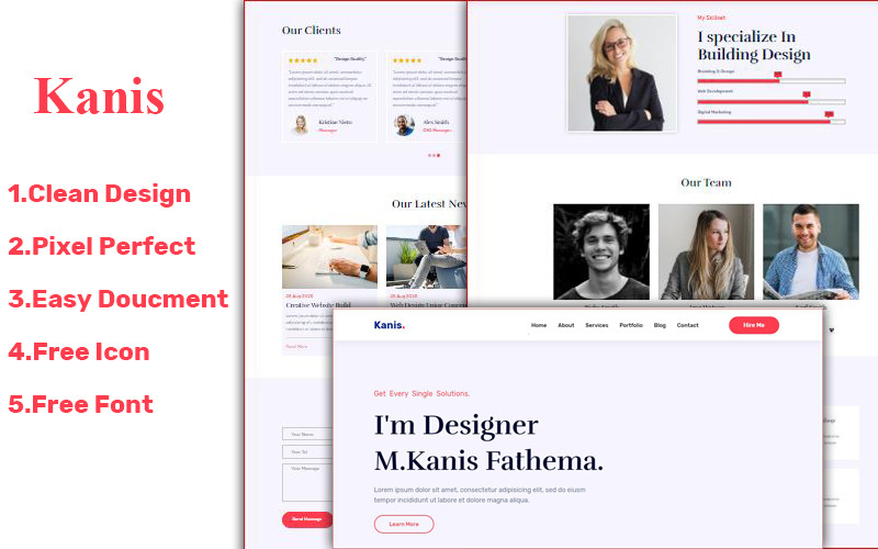 Kanis Personal Html Landing Page Template