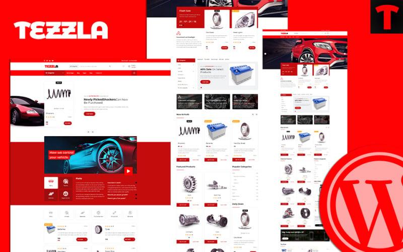 Tezzla   Automobile & Car Accessories Shop WordPress Theme