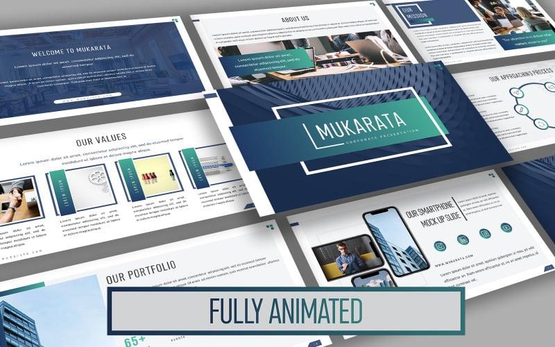 Mukarata Modern Company Presentation PowerPoint template
