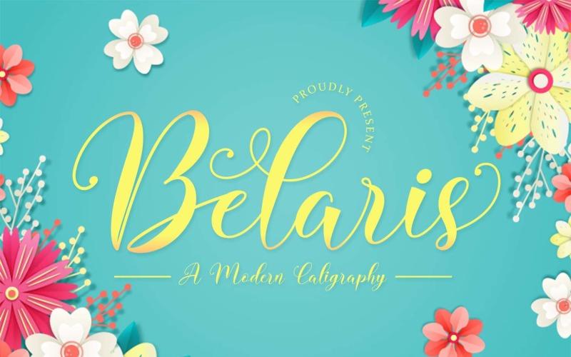 Belaris - шрифт современной каллиграфии