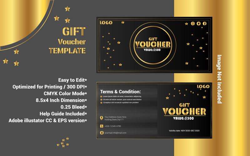 Шаблон подарочного купона - векторное изображение