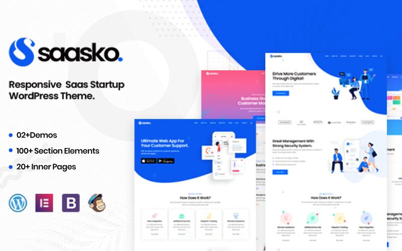 Saasko - Thème WordPress pour démarrage Saas