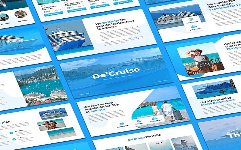 DeCruise - PowerPoint-Vorlage für Kreuzfahrtschiffe