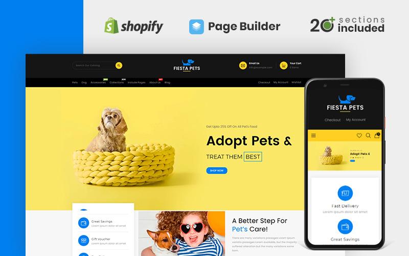 Tema Fiesta Pets Store Shopify