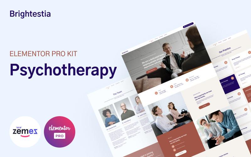 Brightestia - Psychotherapy Elementor Kit