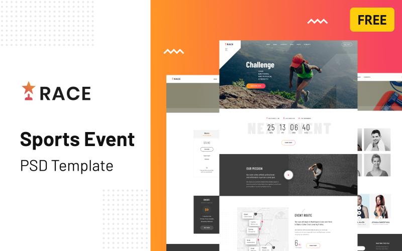 Race - Sports Event Creative Multipurpose Free PSD Template