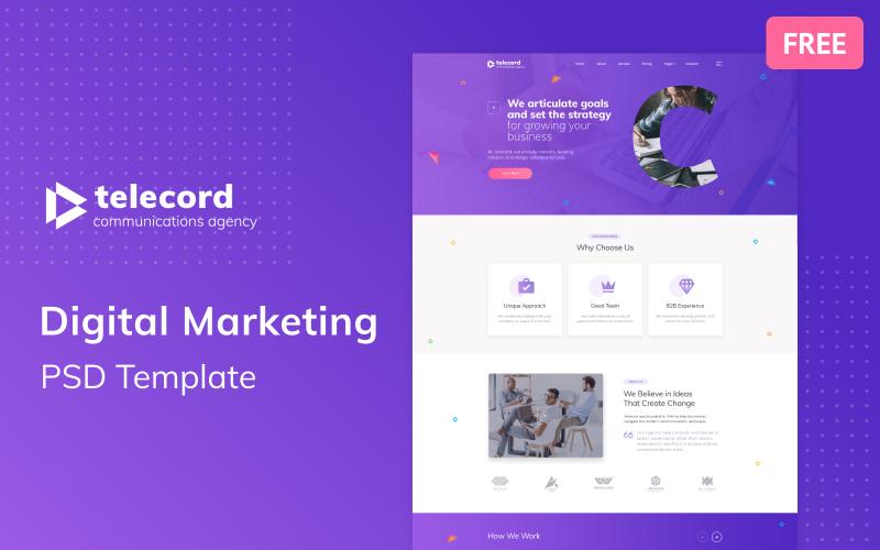 Telecord - Digital Marketing Multipage Creative Free PSD Template