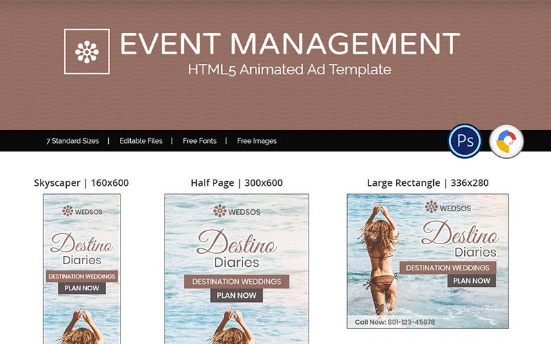 Event Management - HTML5 Annonsmall Animerad Banner