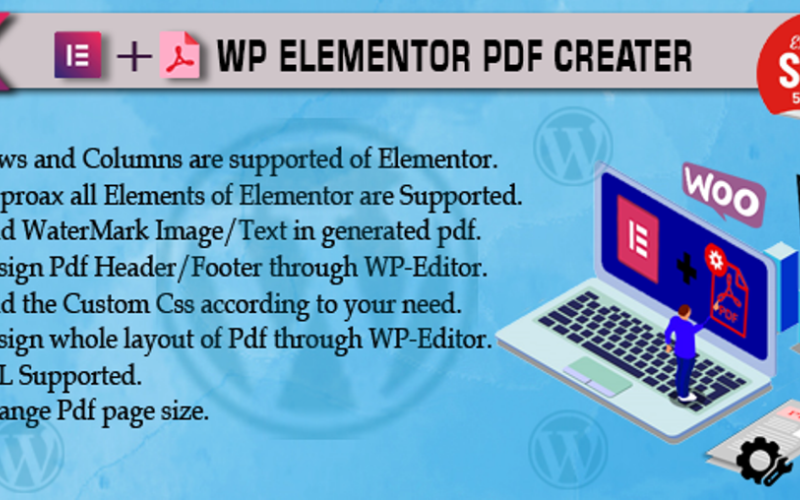 Complemento Pdf Creator para el complemento Elementor WordPress
