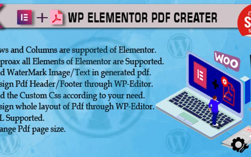 Elementor WordPress Eklentisi İçin Pdf Oluşturucu Eklentisi