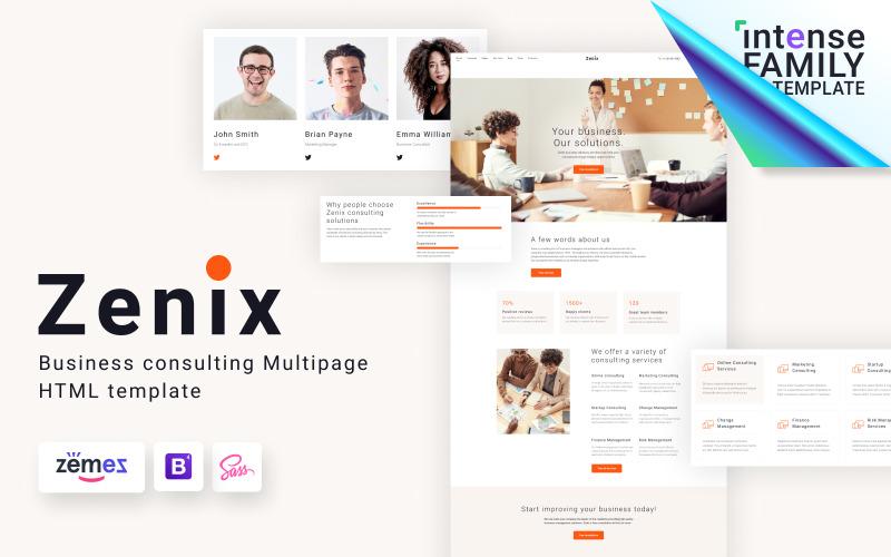 Zenix - HTML-шаблон для бизнес-консультирования