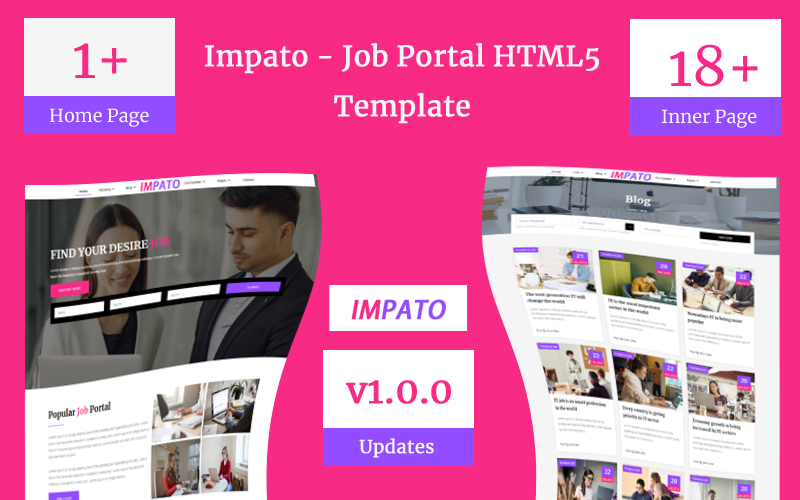 Impato- Job Portal Html5 Teamplate Website Template
