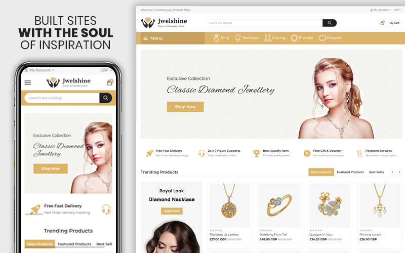 Jwelshine - Het Premium Shopify-thema voor sieraden en mode