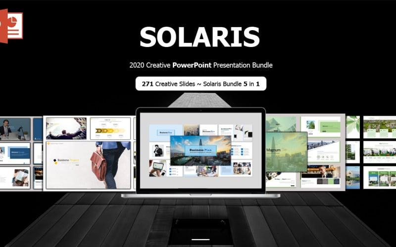 SOLARIS - Creative Business Plan Bundle 5 in 1 PowerPoint template