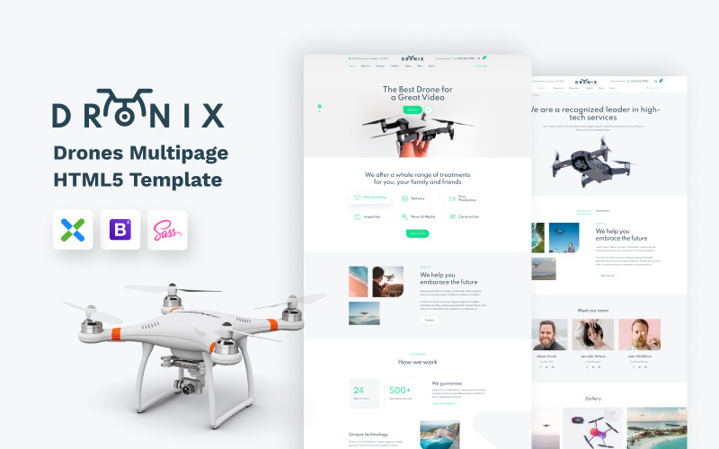 Dronix - Modelo de site de loja Drone