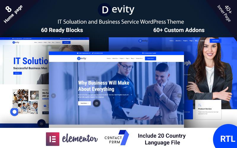 Devity - WordPress motiv pro obchodní služby IT řešení