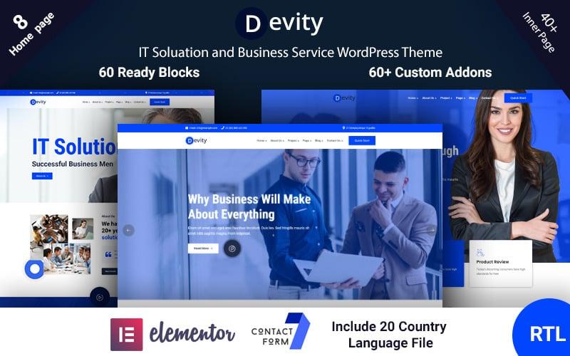 Devity - WordPress-Theme für IT-Lösungen für Business Services