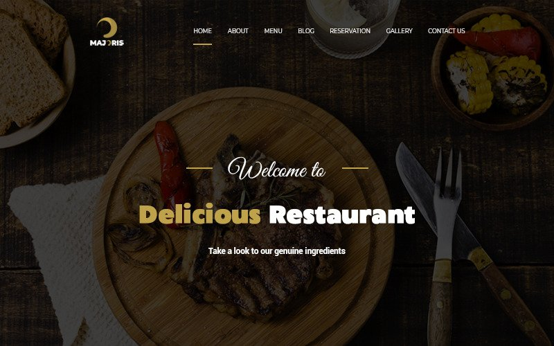 Majoris - Restaurant Onepage PSD Template