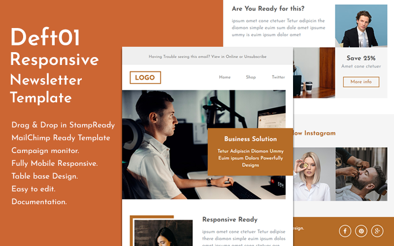 Deft01 - Responsive Email Newsletter Template
