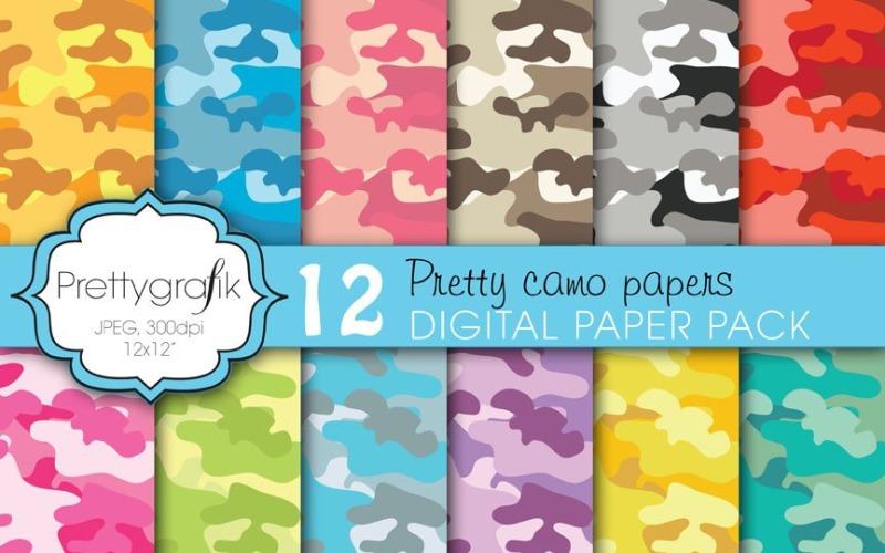 Kamouflage digitalt papper, kommersiellt - vektorbild