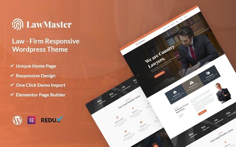 Lawmaster- Advocaat, advocaat en advocatenkantoor WordPress-thema