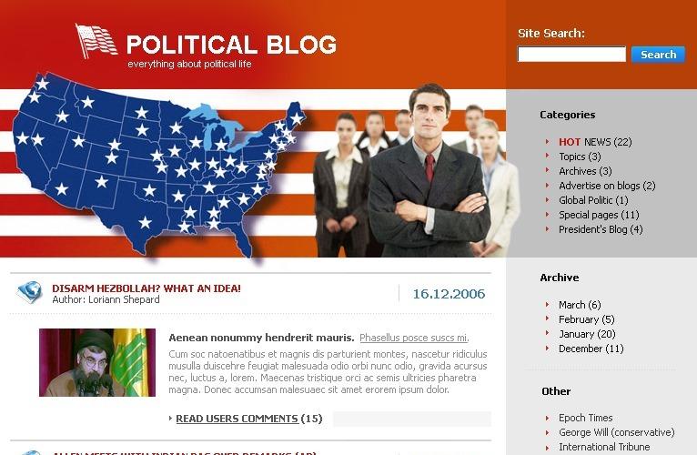 Political News WordPress Theme