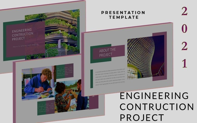 Engineering - Construction Presentation PowerPoint template