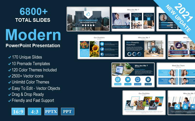 Topo - Modelo moderno de apresentação criativa em PowerPoint