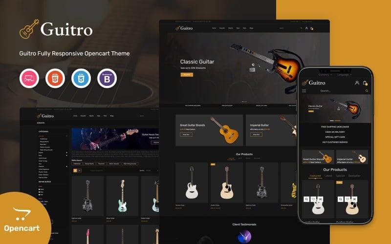 Guitro - Music OpenCart Template