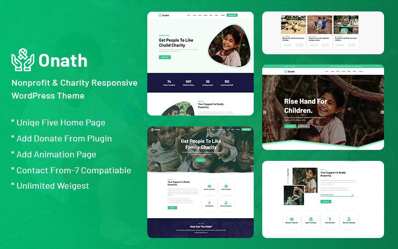 Onath - Ideell och välgörenhetsansvarig WordPress-tema