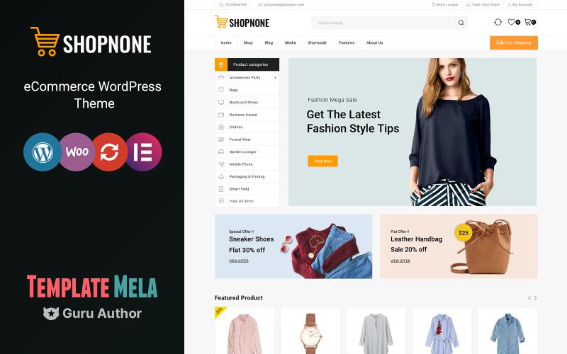 Shopnone-Mega Shop多功能WooCommerce主题