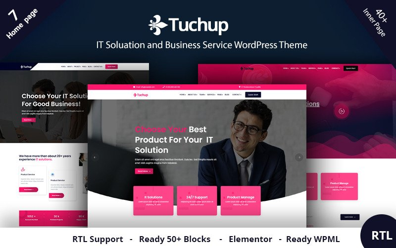 Tuchup - It Solution szolgáltatás és üzleti WordPress téma
