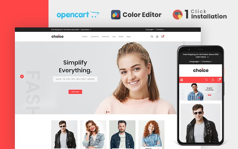 Modello OpenCart di Choice Fashion Store