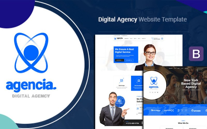 Agencia - Digital Agency HTML5 Template Website Template