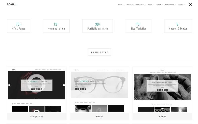 Bomal Minimal Portfolio Website Template
