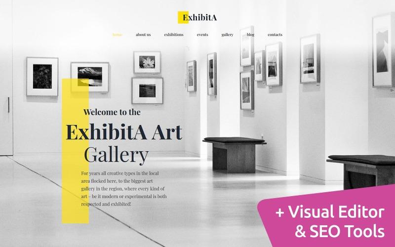 ExhibitA - Шаблон Art Gallery Moto CMS 3