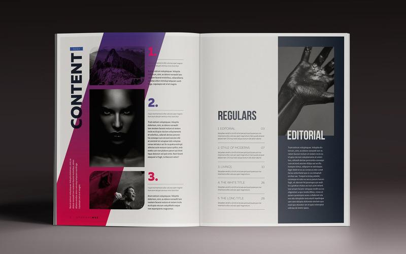 Vorlage für Farbverlaufsmagazine