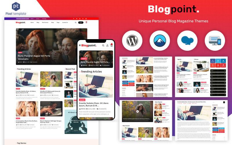 Blogpoint - Blog & Newspaper WordPress Theme