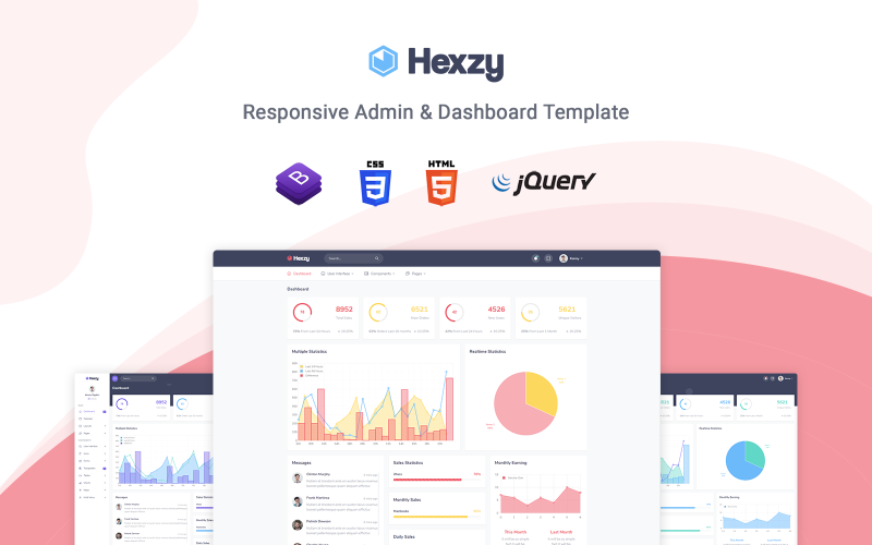 Hexzy - Responsive Admin Template