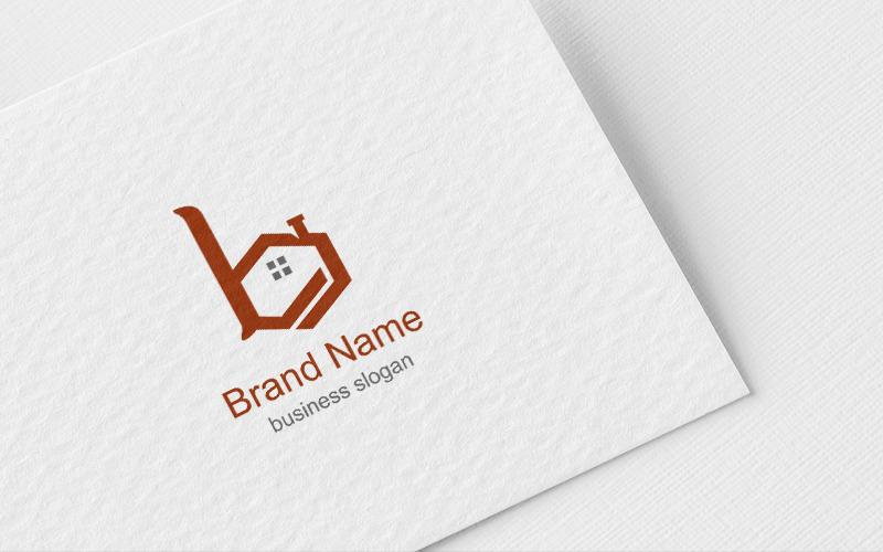 Буква B Realesate дизайн логотипа шаблон