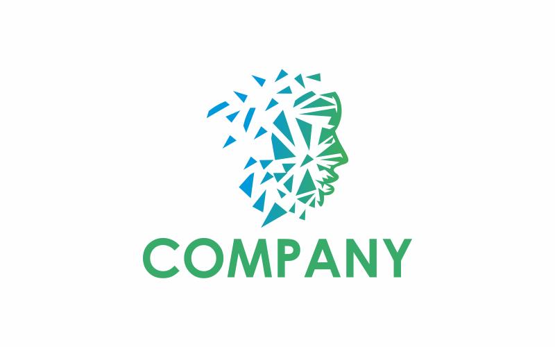 Шаблон логотипа человека