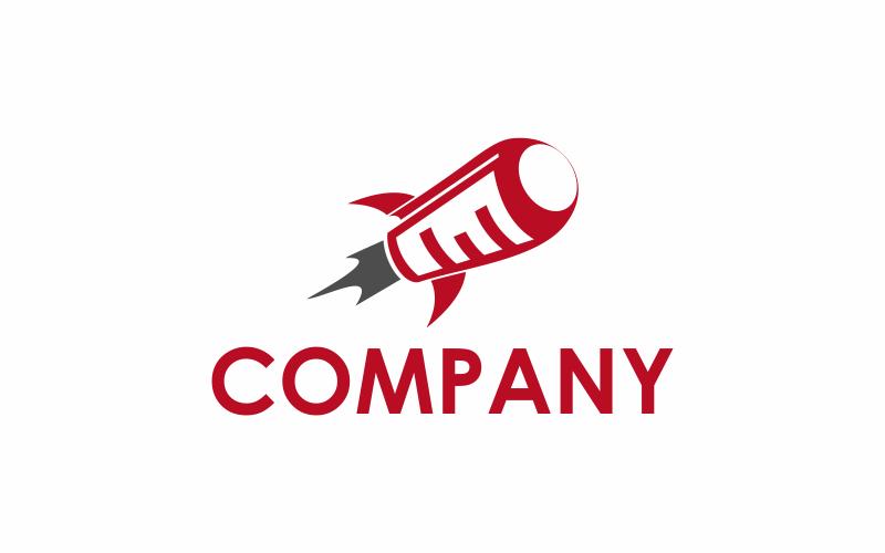 Шаблон логотипа Data Rocket