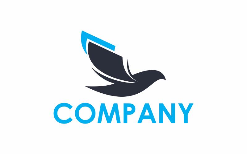 Шаблон логотипа книжные птицы
