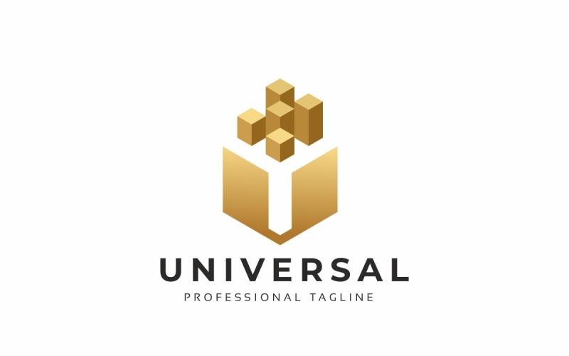Универсальный шаблон логотипа U письмо