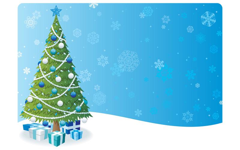 Фон рождественской елки 2 - Иллюстрация