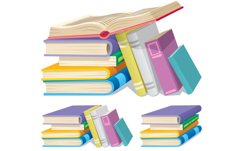 Книжная стопка - Иллюстрация