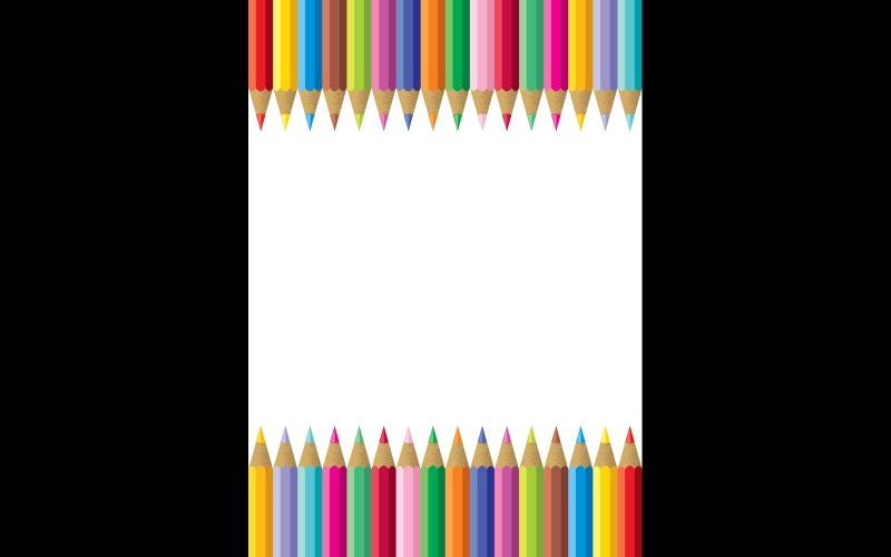 Красочная рамка карандаша - Иллюстрация