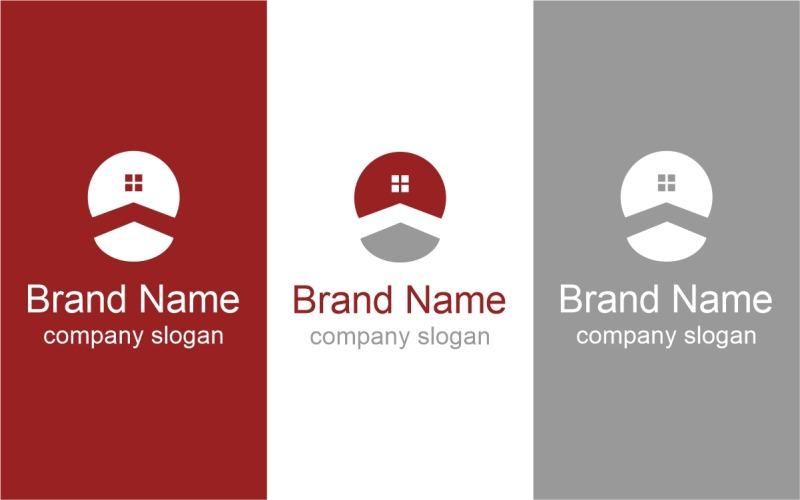 Шаблон логотипа бизнес недвижимости